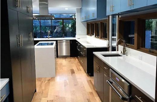 Johanna G Seldes IDC Tampa Designer Blue Cabinets Kitchen Remodel