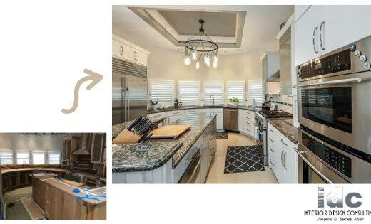 Tampa Interior Designer Kitchen Makeover Cabinets