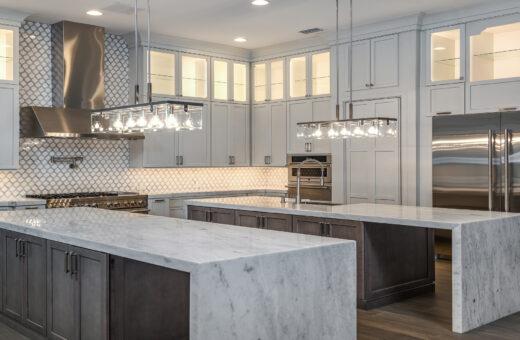 White modern gourmet kitchen