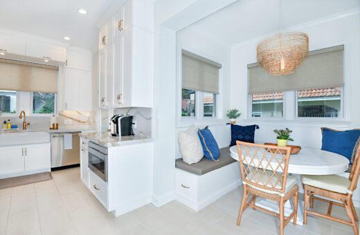 Breakfast Nook white table and kitchen Johanna G Seldes Designer